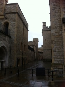 Inside Tower of London precinct